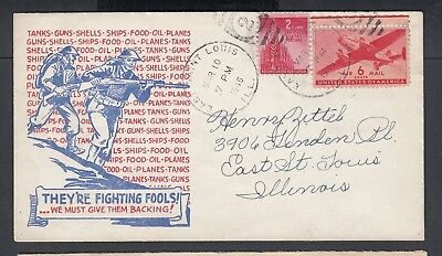 Usa 1945-46  Wwii Three Patriotic Covers Soldiers & Uncle Sam