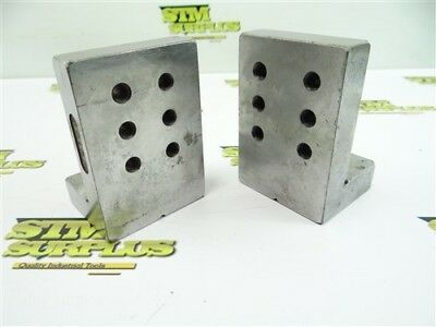 "Pair Of Precision Machinists Right Angle Plate Fixtures 2-1/4"" X 2-3/4"" X 4"""