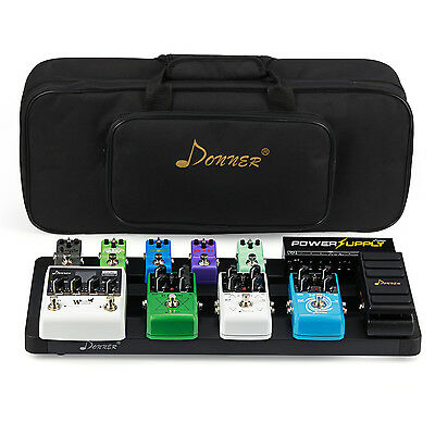 Donner Super Guitar Pedal Board Case DB-4 Aluminium Pedalboard Bag US Stock