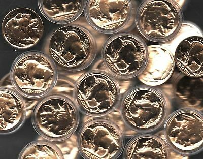 100% 24k Gold Plated Buffalo Nickel Indian Head Old US Collection Gift Coin Lot