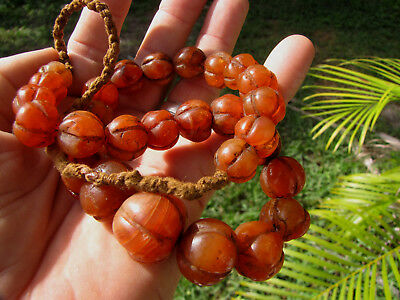 ancient etched carnelian prayer bead 2500 + yr old beads