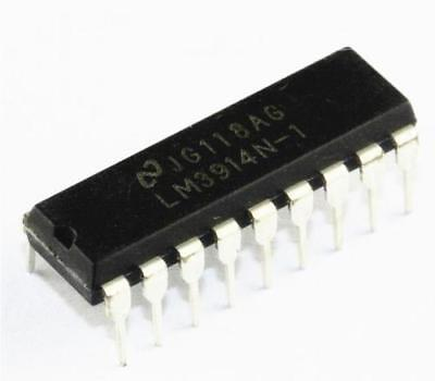 100 Pcs IC LM3914N LM3914N-1 DIP18 NS