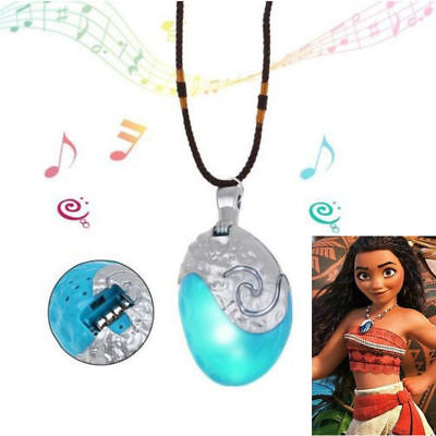 Popular cartoon Moana Necklace Costume Cosplay Props Princess Heart of Glowing