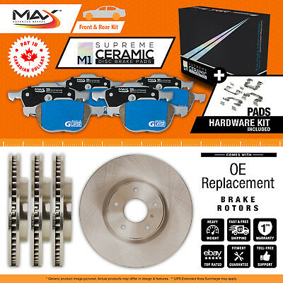 2013 2014 2015 Lincoln MKT (See Desc.) OE Blank Rotor M1 Ceramic Pads F+R