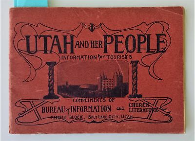 1903 antique UTAH tourist GUIDE history illus rr kenyon hotel telephone travel