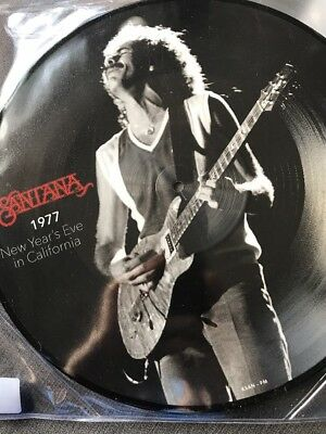 Santana 1977 new years eve in california - Vinyl picture disc Lp  Mint new