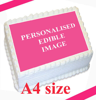 PERSONALIZED CUSTOM Premium or CARD Edible rice/wafer CAKE toppers