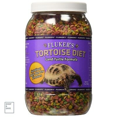 Tortoise Turtle Pellet Food Russian Sulcata Mazuri Diet Fluker Labs 7-Ounce New
