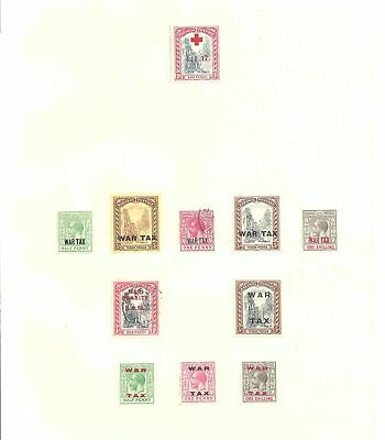 BAHAMAS  1917-19 Selection of used and unused - 21602