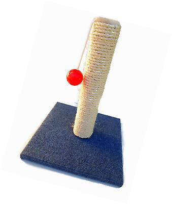 Cat Scratching Post with Toy Ball Playpost Sisal Scratch Pole Play Activity Cent