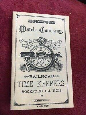 Sales Mailer Brochure THE ROCKFORD WATCH COMPANY Watches Railroad Time Keepers