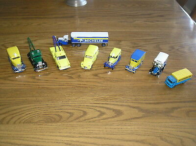 Lot of 9 Different Michelin Tire Die Cast Delivery Trucks 1/43 Scale