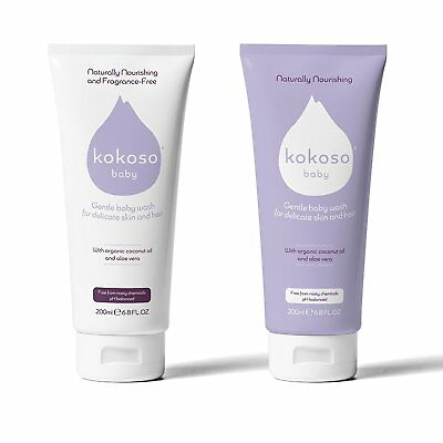 Kokoso Baby Wash for Delicate Skin and Hair - Organic Softly Scented
