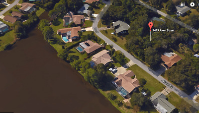 Beautiful Port Charlotte Florida Building Lot - Across From Large Lake And Canal