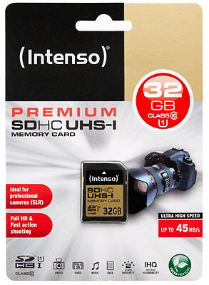 Intenso SDHC Karte 32GB UHS-I Speicherkarte Class 10 SD Card 32 GB
