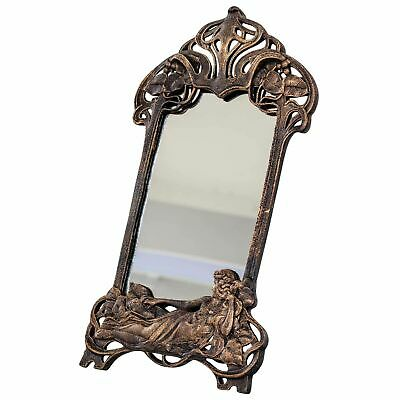 Mirror cosmetic mirror makeup mirror table mirror iron antique style 50cm