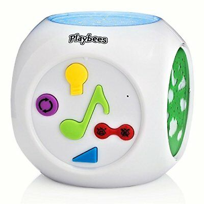 Playbees Baby Sound Machine & Star Projector Night Light Cry Detecting Nursery