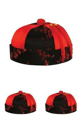 Mandarin Hat CNY Chinese New YEAR OF THE DOG Outfit Red New Cap Designs Lucky
