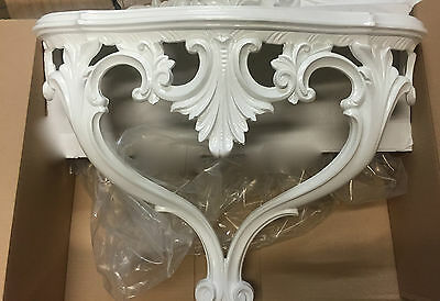 Wall Console White Mirror Console Table 56x45x18 Antique CP60 Shelf Storage