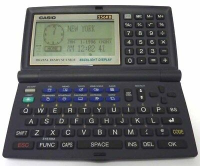 Casio Digital Diary SF-5780E 256KB Retro-Computer