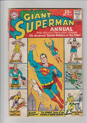 Superman Annual  #6  no BC  DC 80 pg. Giant comic 1962