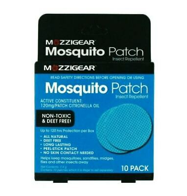 New 10 Pack Mosquito Patch Insect Repellent All Natural Long Lasting Stick On