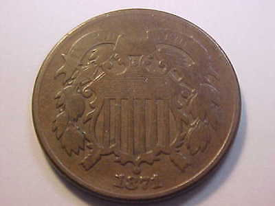 1871  2c Two Cent  Piece Nice VG - FINE SEMI KEY DATE COIN