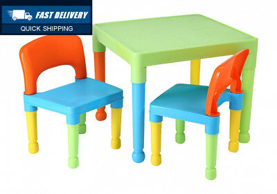Liberty House Toys Children's Table and 2 Chairs Set, Plastic, Multi-Colour