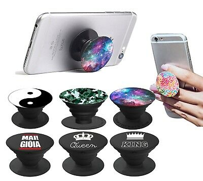 MAI NA' GIOIA QUEEN POPSOCKET Stand Supporto Auto per iPhone Samsung Huawei LG