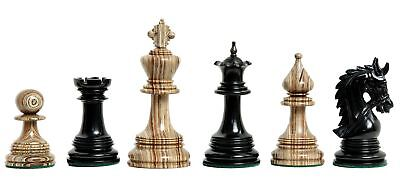 "The Preston Luxury Chess Set - Pieces Only - 4.4"" King -Figured Lilac and Genuin"