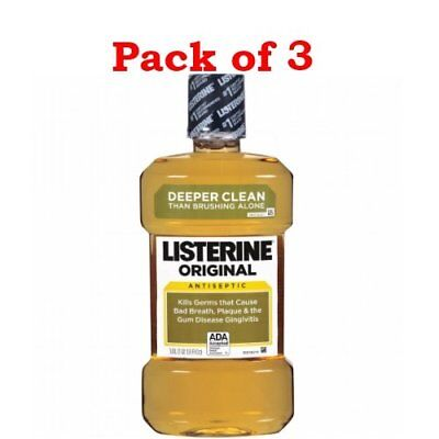 Listerine Original Antiseptic Mouthwash, 33.8 oz (PACK OF 3)