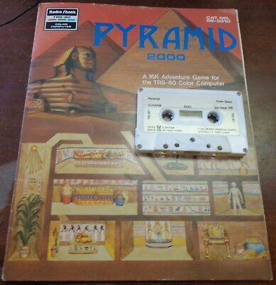16K PYRAMID 2000 Tandy TRS 80 CoCo Cassette Vintage Radio Shack Color Computer