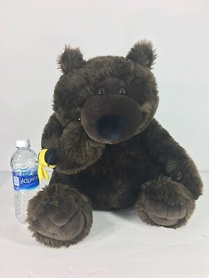 Chosun International Large Brown Bear Plush Stuffed Animal Honey Bee Hunch back