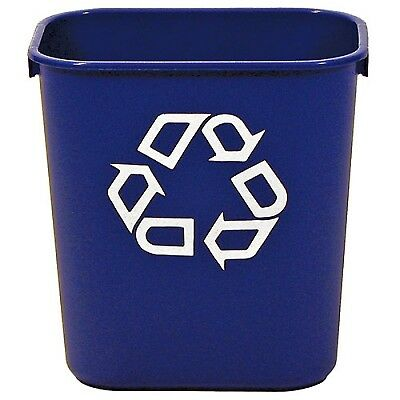 """13-5/8 Qt Rubbermaid (R) Container w/Recycle Symbol - 11-3/8""""L x 8-1/4""""W x 12-1/"""