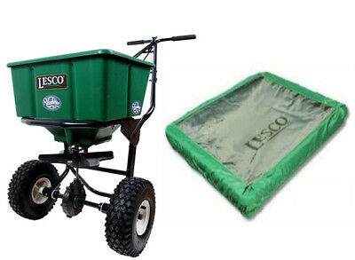 Lesco Push Spreader - 50 Lbs (w/ Cover)
