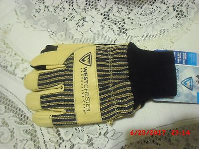 Hunting Westchester Pigskin Cold Weather Work Gloves Insulated Leather LARGE
