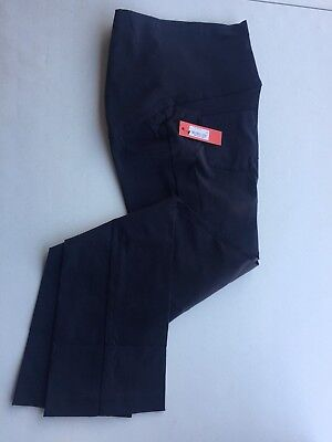 New Medium  Tapemeasure  Maternity Pants Navy Blue Over the Belly Stretch Pants