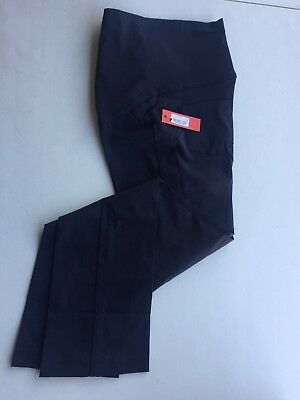 New Tapemeasure  Maternity Career Pants M Navy Blue Over the Belly Stretch Pants