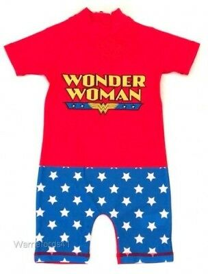 Girls DC WONDER WOMAN swimming costume, swimsuit, surf suit - 18mths - 5yrs