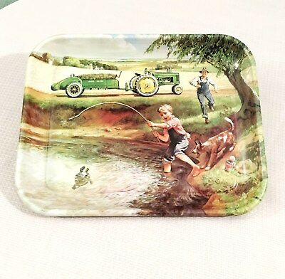 """John Deere """"Turtle Trouble"""" Licensed Serving Tray 1998 Made in USA"""