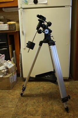 EQ-2 Telescope Mount Head with Metal Tripod & Counterweight & Ext Knobs
