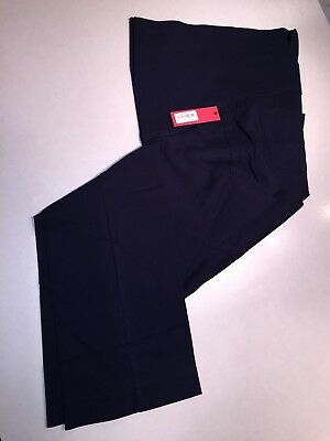 New Tapemeasure Maternity Career Pants L Navy Blue Over the Belly Straight Leg