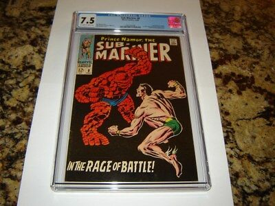 Sub-Mariner #8 (Dec 1968, Marvel) CGC 7.5 OW/W