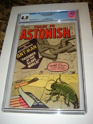 Tales To Astonish # 41 (1963)  Early Ant Man  CGC 4.0 OW/W
