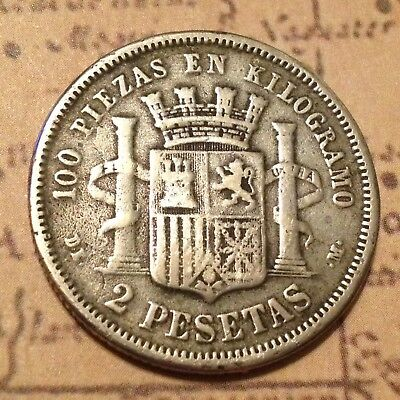 Silver PIRATE COIN Spanish Ship Wreck Treasure Chest Era by Old Collection US
