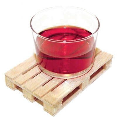 Wooden Drink Coaster Tea Coffee Cup Mat Tableware Crafts Decor Mini Pallet UP