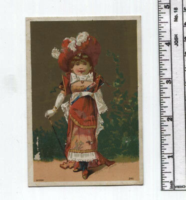 Antique AD Card - Child Dressed Up - Durham Coffee