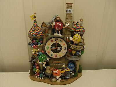 The Danbury Mint M&M's Chocolate Factory Castle Clock