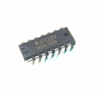 50 Pcs SN74LS08N 74LS08 TI IC Gate And 4CH 2-INP 14-DIP