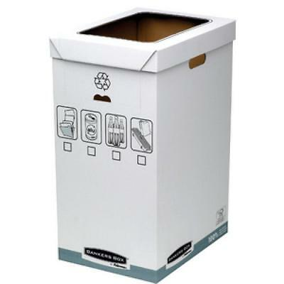 Fellowes BANKERS BOX SYSTEM Recycling-Behälter, weiß (0043859561025)